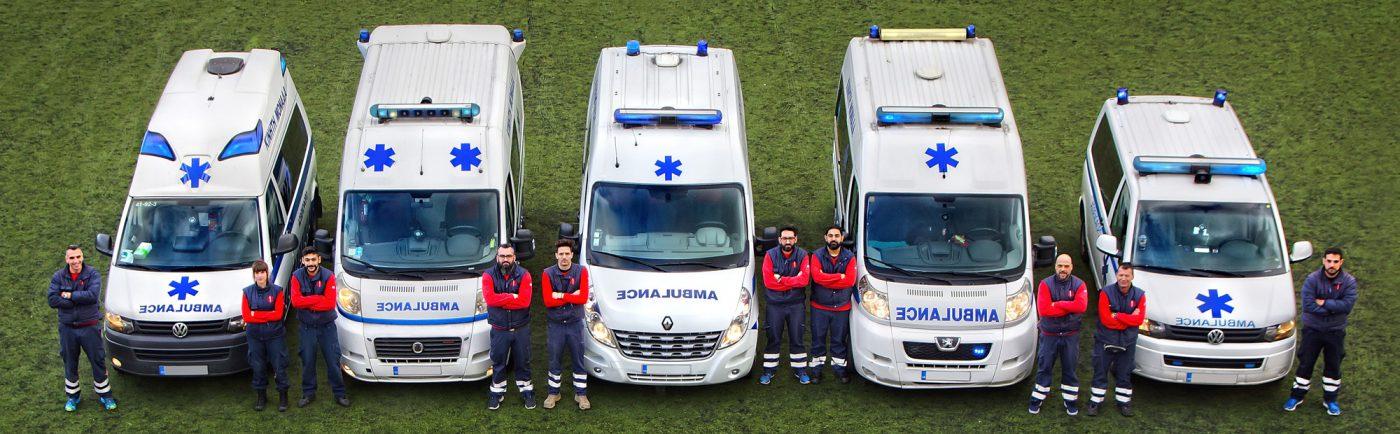 Ιδιωτικά Ασθενοφόρα οχήματα και διασώστες