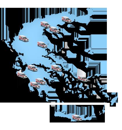 Ασθενοφόρα σε όλη την Ελλάδα